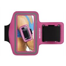 Tech Essentials Nylon/Neoprene Samsung Galaxy S4/S3 Armband Pink by Merkury