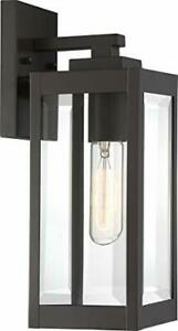 Quoizel WVR8405WT Westover Modern Industrial Outdoor Wall Sconce 1-Light 100 ...