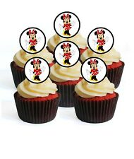 24 Minnie Mouse Theme #2 Edible Cupcake Toppers-Stand Up Wafer Decorations