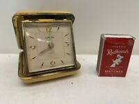 Vintage German Europa Folding Alarm Desk Pocket Clock Case - Working