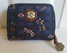 New Nica Mona floral coin purse. Rrp £18. Zip around. Blue check.