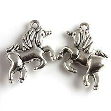 Jewelry 6 x Tibetan Silver Horse Charms Necklace/Bracelet Pendant Dangle Beads
