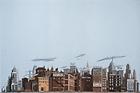 "HO Scale Walthers SceneMaster 949-712 Hotel/Business Backdrop Scene 24 x 36"""