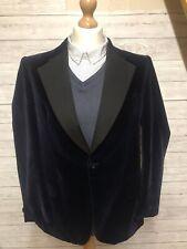 Boss Men's Blue Velvet Jacket Suit Jacket Size Large 42' Chest
