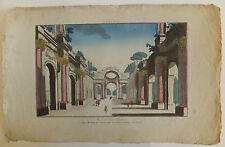 Ruines d'Egypte vue d'optique XVIIIème siècle