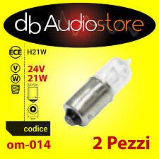BlackLight OM-014 bulbs 2 lampade ricambio OEM Line H21W 24V 21W OMOLOGATE