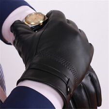 Men's Autum Winter Classic Genuine Leather Gloves Lambskin Mittens Driving E3