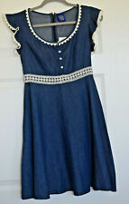 "NWT ""Disney Beauty and The Beast"" Blue Chambray Dress Size Medium"