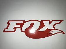 3x RED Fox Shox Tail Vinyl Decal Sticker Forks /Mountain Bike / Frame Set