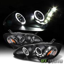 For 2003-2008 Toyota Corolla Black LED Halo Projector Headlights 03-08 Headlamps
