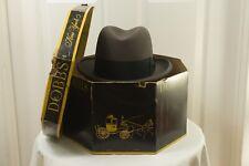 Dobbs 1950s 1955 Dated Vintage Homberg Fedora Hat w Hat Box 7 56cm (Send Offer!)
