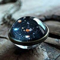 Luminous You Are My Universe Nebula Galaxy Double Sided Pendant Necklace Planet