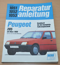 Peugeot 205 1,0 1,1  1,3 1,4 Motor Getriebe ab 1988 Reparaturanleitung B1051