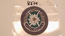 Bundeswehr Abzeichen Heeresbergführer auf grau 1Stück (k671)