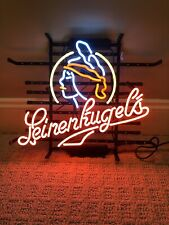"17""x14""Leinenku gels Neon Sign Light Beer Bar Pub Wall Hanging Visual Artwork"