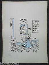 """Clifford C Lewis """"Clew"""" Original Pluma Y Tinta De Dibujos Animados-Box Office ladrón #36"""