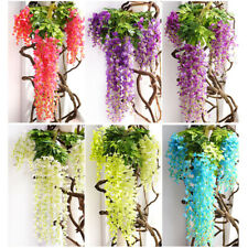 110cm Silk Wisteria Artificial Flowers Vine Garland Hanging Flower Wedding Party