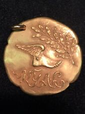 Beautiful 1922 New York Athletic Club Gold Medal/Pendent 33 MM- Dive/Track