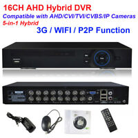 CCTV Security 16CH AHD DVR HVR NVR 5-IN-1 AHD IP Surveillance 1080P HDMI WIFI 3G