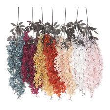 Artificial Wisteria Vid Guirnalda Planta Follaje Exterior Colgante Flores Decor