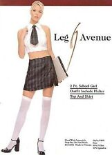 SEXY SchoollGirl Adult COSTUME sz S/M w/FREE Plaid Bra & Thong included HALLOWEN