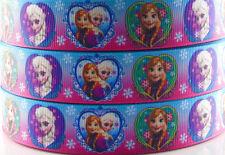 5yds 7/8'' (22mm) Frozen printed grosgrain ribbon Hair bow diy Y786