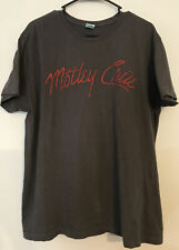 Pacific VTG Motley Crue T-shirt Grey With Red Letters -Preowned- Mens XL Vintage