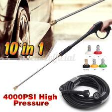 High Pressure Washer Spray Gun Car Power Wand Lance Nozzle Tips Kit Us 4000psi