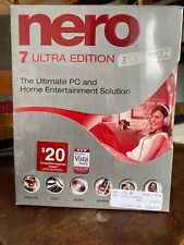 Nero 7 - Ultra Edition Enhanced Ultimate PC Solution New And Sealed Box