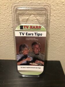 TV Ears Replacement Ear Tips 10 Total Comply Foam Snap Tips 5 Pairs New