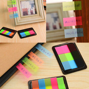 Fluro Repositionable Adhesive Sticky Notes Index Tabs Page Markers Bookmark DIY