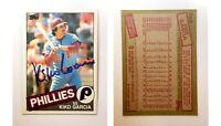 Kiko Garcia Signed 1985 Topps #763 Card Philadelphia Phillies Auto Autograph