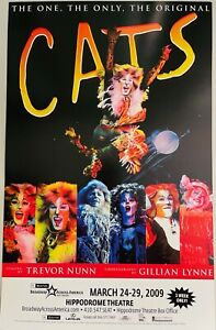 Cats - Broadway US Tour Window Card Poster 2009 - Hippodrome Theatre Baltimore