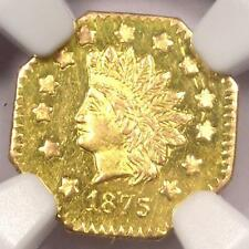 1875 Indian California Gold Dollar Coin $1 BG-1126 R5. NGC Uncirculated (MS, BU)