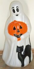 Halloween Ghost with Pumpkin and Cat - General Foam - Plastic Blow Mold Light