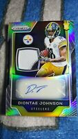 2019 Prizm Diontae Johnson Auto 30/60 2 Color Rookie Patch Pittsburgh Steelers