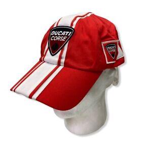 Fila Ducati Corse Baseball Cap Cappello Team Medium Red Adjustable