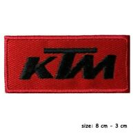 KTM Racing Car Logo  Embroidered Iron/Sew on Patch Badge Motorsports