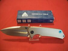 Sanrenmu Titanium Ball Bearing Flipper Pocket Knife With 12C27 Sandvik Blade NIB
