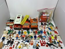 Vintage LOT Playmobil 55 Figure Vehicles And Accessories