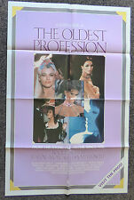 THE OLDEST PROFESSION 1980's ORIGINAL VHS VIDEO MOVIE POSTER RAQUEL  WELCH
