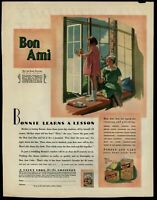 Bon Ami window cleaner 1930 Color Saturday Evening Post Advertisement