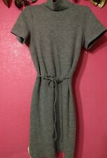 "Claudie Pierlot Gray ""Ruch"" Dress double back pockets Size 2 US"