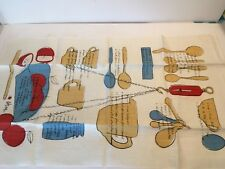 Vera Neumann Linen Kitchen Tea Towel Vtg Metric English Measurement Converision