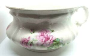 Lovely Chamber Pot with Roses all Around and A Beautiful Handle