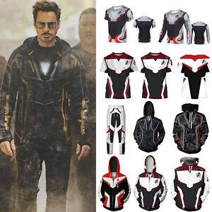 Men Marvel Avengers Endgame Quantum T-shirt Hoodie Sweatshirt Jacket Coat Pants