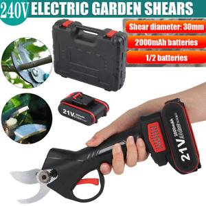 AC 100-240V Cordless Electric Pruning Shears Secateur Rechargeable Branch Cutter