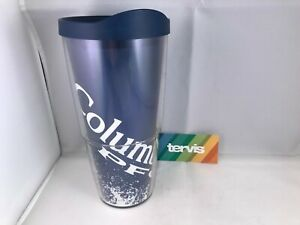 Tervis Tumbler Cup Columbia PFG 24 oz Glass w/blue lid