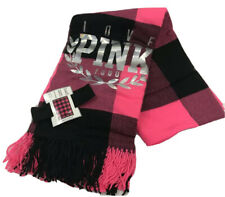 Victoria's Secret Pink Black & Pink Stadium Blanket/ Throw