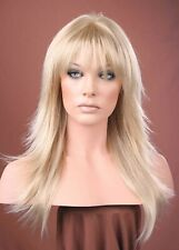 Forever Young Ash Blonde Long Straight Flicked Layers Wig UK Fashion Wigs